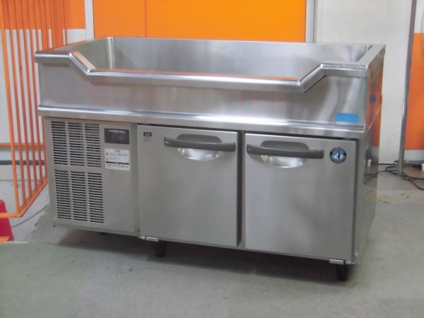 【売り切れ】ホシザキ 舟型シンク付冷蔵コールドテーブル RW-120SNC